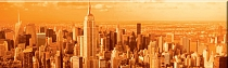 Obraz New York Manhattan skyline 143x45cm