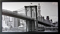 Černobílý obraz New York Brooklyn bridge 50x100cm