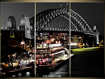 Obraz město Sydney most Harbour bridge v noci