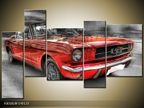 Obraz retro auto Ford Mustang kabriolet
